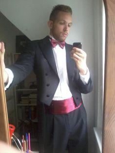 tailcoat tuxedo, cummerbund