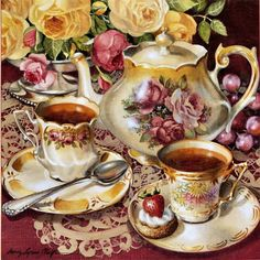 Картинки по запросу картинки для декупажа чаепитие