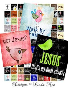 Instant Download  CHRISTian Quotes and by DesignsbyLindaNee, $3.95