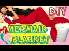 DIY a mermaid blanket without sewing - YouTube