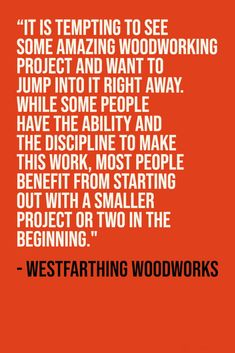 Don't be tempted by hugely elaborate projects. As a beginner, make some beginner and middle level projects before going for the big one. Woodworking Education, Woodworking Basics, Woodworking Books, Woodworking Projects, Weekend Projects, Easy Projects, Outdoor Wood Projects, Cool Things To Make, How To Make