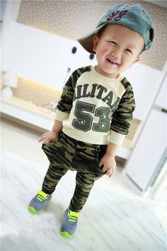 spring clothing new 53 camouflage suit baby boys