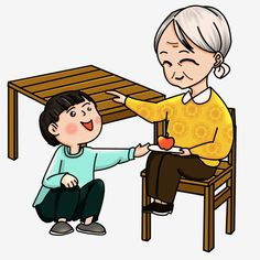 Double Ninth Festival Grandson Xiaoshun Grandma Touches Grandsons Head Apple Yellow Blue Green White Hair Grandma Png Transparent Clipart Image And Psd File Old Man Cartoon Font Illustration Graphic Design Background Templates