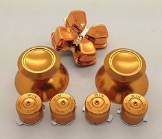 EMODS GAMING Metal Gold thumbsticks Grip Buttons and Gold Chrome Dpad for Sony PS4 Controllers ** Read more  at the image link.Note:It is affiliate link to Amazon.