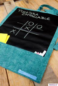 El blog de Bebelulua: Pizarra enrollable // Chalkboard mat Games For Kids, Diy For Kids, Crafts For Kids, Infant Activities, Activities For Kids, Toddler Travel, Idee Diy, Ideas Para Fiestas, Busy Book