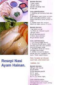 Nasi ayam hainan Thai Recipes, Asian Recipes, Cooking Recipes, Rice Recipes, Easy Recipes, Recipies, Eat Me Drink Me, Food And Drink, Nasi Lemak