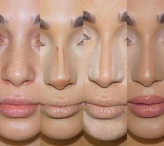 – Contour Tips for a slimmer nose - Makeup Tips Highlighting Makeup Goals, Makeup Inspo, Makeup Inspiration, Makeup Tips, Makeup Ideas, Makeup Tutorials, Makeup Salon, Makeup Studio, Nose Makeup