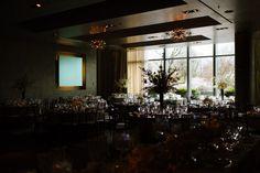 Wedding reception at the Ritz Carlton Boston, a modern venue in the city.
