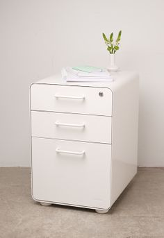 White File Cabinet styling #white #workhappy