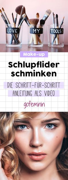 Make-up eyelids: The instructions are in the video! Make-up eyelids: .- Schlupflider schminken: Die Anleitung gibt's im Video! Schlupflider schminken: … Make-up eyelids: The instructions are in the video! Eye Makeup, Makeup Brushes, Makeup Tips, Makeup Remover, Beauty Makeup, Diy Beauty, Beauty Hacks, Beauty Room, Oily Hair