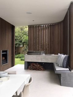 Love the BBQ counter  Balcony Over Bronte by Luigi Rosselli Architects