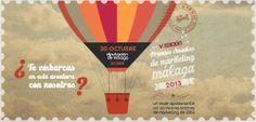 Banner de los V Premios Anuales de #Marketing organizados por el Club de #Marketing de #Malaga y celebrados el 30 de octubre de 2013.