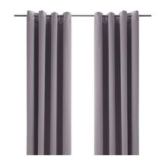 $15 IKEA - BOLLOLVON, Block-out curtains, 1 pair, , The curtains prevent most light from entering and provide privacy by blocking the view into the room from outside.The eyelet heading allows you to hang the curtains directly on a curtain rod.