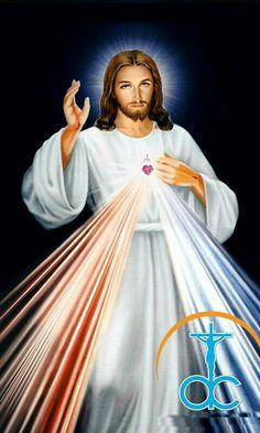Jesus I trust in you! Divine Mercy Prayer, Divine Mercy Image, Professional Haircut, Jesus Loves Us, Pictures Of Jesus Christ, King Jesus, Heart Of Jesus, Catholic, Trust