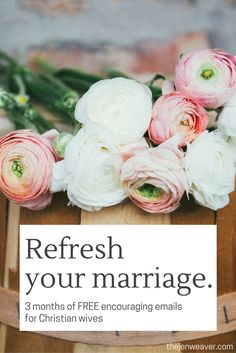 Feeling like your marriage could use a little freshening up? We've all been there. Get these free 3 months of encouraging emails to help you see your marriage in a new light and deepen the blessings you're receiving from God in your marriage.