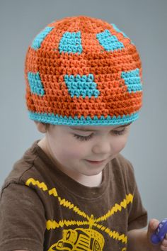 CROCHET HAT PATTERN Kid's & Baby's Gingham by PlayinHookyDesigns