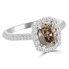 Jewelry Point - 1.85ct VS1 Cognac-Brown Diamond Engagement Ring 18k Gold, $2,900.00 (http://www.jewelrypoint.com/1-85ct-vs1-cognac-brown-diamond-engagement-ring-18k-gold/)
