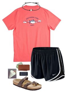 Untitled #630 by shelbycooper on Polyvore featuring Southern Tide, NIKE, Birkenstock and FOSSIL