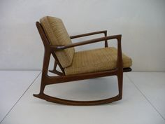 Selig Rocker Ib Kofod Larsen Selig Rocking Chair by XcapeVintage