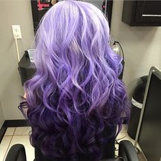 """""""The most gorgeous Purple Ombré hair I have ever seen goes to the fabulous Haiir Dresser  @lupayyy @lupayyy @lupayyy  you can rock anything girl!"""""""