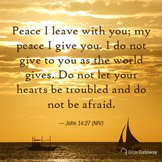 Our Lord gives peace which is not of this world. Peace to comfort us in times of trouble. Biblical Quotes, Bible Verses Quotes, Bible Scriptures, Faith Scripture, Healing Scriptures, Scripture Cards, Religious Quotes, Popular Bible Verses, Favorite Bible Verses