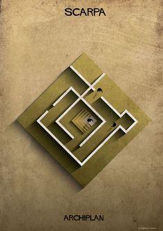 Galeria de Federico Babina analisa plantas de mestres da arquitetura na série ARCHIPLAN - 14