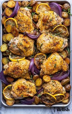 Butter makes everything better—especially when it's mixed with lemon zest, thyme, and oregano, then slathered on baked chicken.