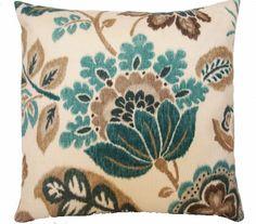 Decorative pillow 20x20 Kravet, Teal,Brown,Taupe,Accent pillow,Toss pillow. $40.00, via Etsy.