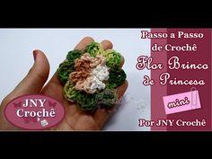 Passo a Passo de Crochê Flor Brinco de Princesa Mini por JNY Crochê