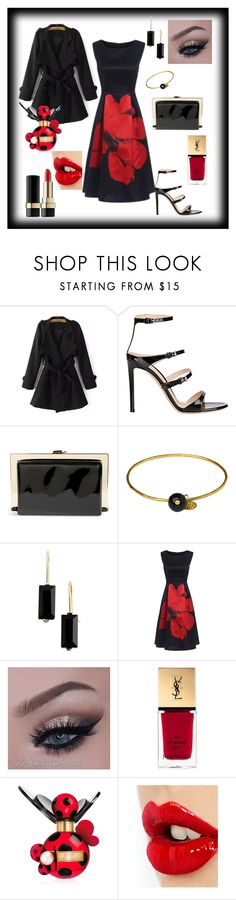 """""""Evening-Scarlet Rose"""" by tropicalhaven ❤ liked on Polyvore featuring moda, Gianvito Rossi, Natasha Couture, Whistles, Anne Klein, Yves Saint Laurent, Marc Jacobs, Charlotte Tilbury y Dolce&Gabbana"""
