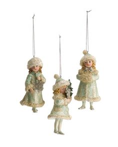 Set of 12 Winter Girl Ornaments