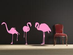 3 Flamingos Vinyl Wall Decal Sticker