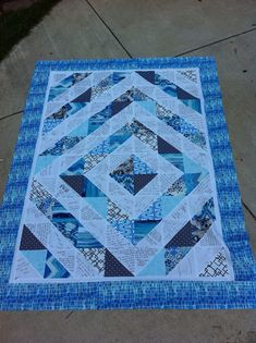 """I've managed to finish a lot this past week! Kate's wedding guestbook quilt top if finished at 73x55"""" or so. I really love how it turned out..."""