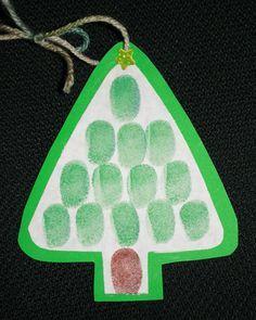 Fingerprint Christmas Tree Ornament