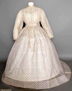 In the Swan's Shadow: PRINTED DIMITY DAY DRESS, 1860s
