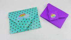 Origami Briefumschlag falten DIY. Bunte Briefchen falten ganz einfach Tutorial…