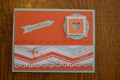 This is a current promotion that Stampin' Up is running called Sent With Love.  The Bundle includes the stamp set and   cute DSP, too.