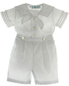 Boys White Sailor Bobbie Suit Christening Outfit - Feltman Brothers, $54.00 (https://www.hiccupschildrensboutique.com/boys-white-sailor-bobbie-suit-christening-outfit-feltman-brothers/)
