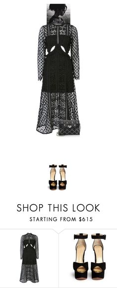 """Alivia #8429"" by canlui ❤ liked on Polyvore featuring self-portrait, Charlotte Olympia and Miu Miu"