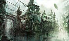 #steampunk #city