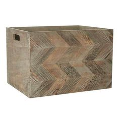 Crafted from Paulownia wood with a chevron pattern detail, this fully assembled box features cut-out handles and is available in a choice of sizes....