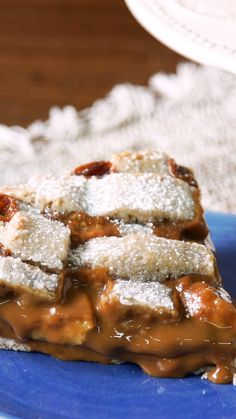 Wholemeal Banana and Dulce de Leche Pastafrola- Pastafrola Integral de Banana y Dulce de Leche Not suitable for cloying - Quick Dessert Recipes, Easy Cake Recipes, Sweet Recipes, Cookie Recipes, Köstliche Desserts, Healthy Desserts, Tastemade Recipes, Easy Eat, Tasty