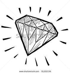 Neon sign?   Doodle style diamond or wealth icon illustration in vector format suitable for web, print, or advertising use. by LHF Graphics, via ShutterStock