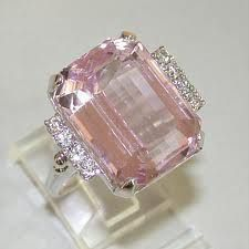 Looks like a Kunzite ring I spent $3,400 in my younger days...until I had buyers remorse and returned it two weeks later. Oh to be 22 again...