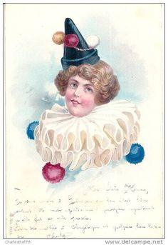1902 - SUPERBE CLOWN ART NOUVEAU VICTORIEN - CIRQUE - CIRCUS - PRECURSEUR