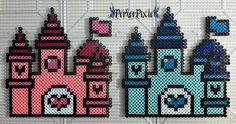 Pink Pearl and Sapphire Castles by PerlerPixie.deviantart.com on @DeviantArt