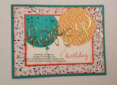 Stamping with Shelle:  Celebrate Today. CTS105 Sketch Challenge.   http://stampingwithshelle.blogspot.com/2015/01/celebrate-today-cts105.html   #birthday #balloons #stampinup