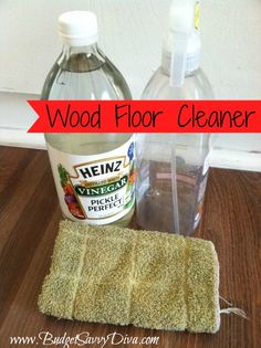 Easy Wood Floor CleanerNeed an easy, cheap floor cleaner without the nasty chemicals?In a spray bottle, mix cups of white vinegar and 30 ounces of water.Spray onto a towel or rag. Homemade Cleaning Supplies, Household Cleaning Tips, Cleaning Hacks, Household Cleaners, Cleaning Recipes, Diy Cleaners, Cleaners Homemade, Wood Floor Cleaner, Green Cleaning