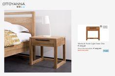 La mesita de noche de la colección Light Frame está fabricada con madera de teka reciclada. De diseño sencillo y clásico, encajará bien en cualquier dormitorio. Las piezas de Ethnicraft están simplemente pulidas, lo que permite resaltar la belleza y lo genuino de la madera maciza.