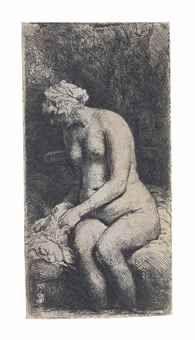 van Rijn , A Woman bathing her Feet at a Brook Rembrandt Etchings, Amsterdam, Bathing, Van, Painting, Women, Bath, Women's, Vans